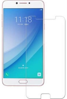 Microcase Samsung C7 Pro Tempered Glass Cam Ekran Koruyucu
