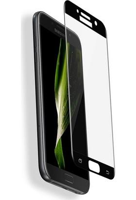 Microcase Samsung Galaxy C5 Çerçeveli Tempered Glass Cam Ekran Koruyucu