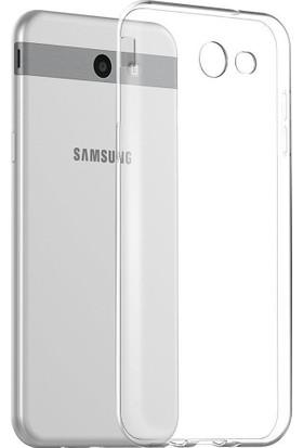 Microcase Samsung Galaxy J3 2017 Ultra İnce Soft Silikon Kılıf + Tempered Cam