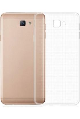 Microcase Samsung Galaxy J7 Max İnce Soft Silikon Kılıf + Tempered Glass