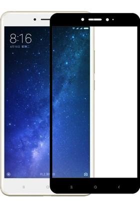 Microcase Xiaomi Mi Max 2 Siyah Çerçeveli Tempered Cam Ekran Koruyucu
