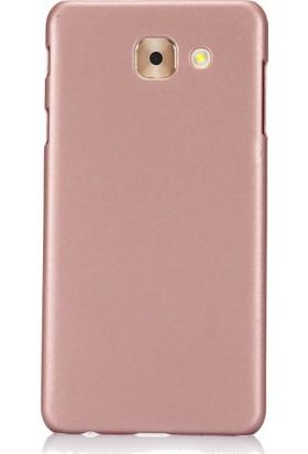 Microcase Samsung Galaxy J7 Max Köşeli Sert Rubber Kılıf + Tempered Cam