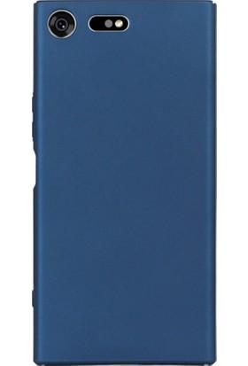 Microcase Sony Xperia XZ1 Mat Premium Soft Silikon Kılıf + Tempered Glass