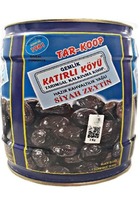 Katırlı Köyü Hazır Kahvaltılık Siyah Zeytin 2 Kg.