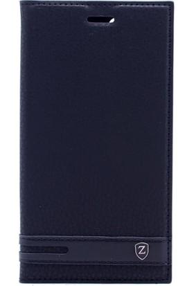 Case 4U Samsung Galaxy J2 Pro 2018 Kapaklı Kılıf Gizli Mıknatıslı Siyah
