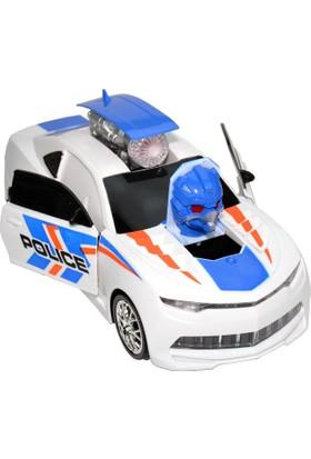 Powerhob Oyuncak Polis Arabası Otomatik Direksiyon