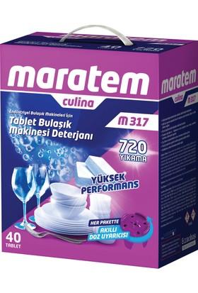 Maratem M317 Endüstriyel Bulaşık Makinesi Tablet Deterjanı 40 Adet