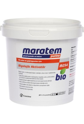 Maratem M254 Pis Sular Yağ Kapanları İçin Biyolojik Aktivatör 1 Kg