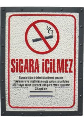 Metal Tasarım Sigara İçilmez Dekoratif Tablo Metal