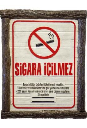 Metal Tasarım Sigara İçilmez Dekoratif Tablo Kütük