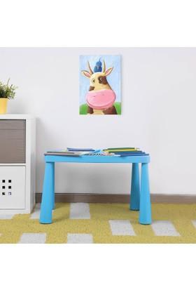 Hepsiburada Home Mini Çocuk Masası Mavi