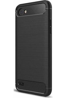 Gpack LG Q6 Kılıf Room Tarz Silikon Arka Kapak +Kalem+ Cam