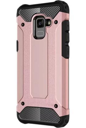 Gpack Samsung Galaxy A5 2018 Kılıf Sert Çift Katmanlı Crash Kılıf + Cam