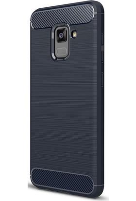 Gpack Samsung Galaxy A8 2018 Kılıf Room Silikon Kılıf + Cam + Cam + Kalem