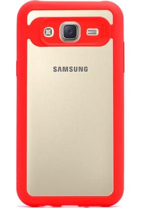 Gpack Samsung Galaxy J7 Core Kılıf Bumper Buttom Kılıf + Cam + Kalem