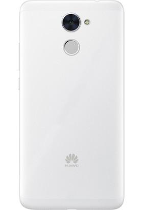 Gpack Huawei Y7 Kılıf 02 mm İnce Silikon Kılıf Şeffaf + Cam + Kalem
