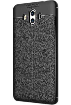Gpack Huawei Mate 10 Pro Kılıf Niss Tarz Silikon Arka Kapak + Cam + Kalem