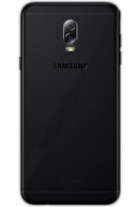 Gpack Samsung Galaxy C8 Kılıf 02 mm İnce Silikon Kılıf + Cam