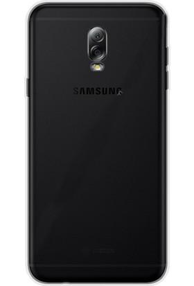 Gpack Samsung Galaxy C8 Kılıf 02 mm İnce Silikon Kılıf + Cam + Kalem