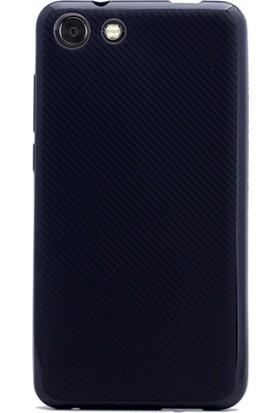 Gpack Vestel Venüs V4 Kılıf Carbon Fiber Silikon Kılıf + Kalem