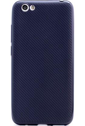 Gpack Vestel Venüs E3 Kılıf Carbon Fiber Silikon Kılıf + Cam