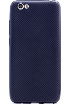 Gpack Vestel Venüs E3 Kılıf Carbon Fiber Silikon Kılıf + Cam + Kalem