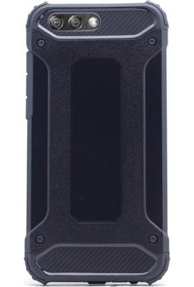 Gpack Asus Zenfone 4 ZE554 Kılıf Sert Çift Katmanlı Crash Kılıf + Cam
