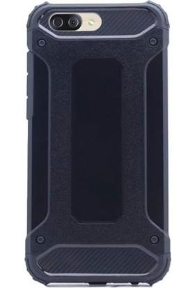 Gpack Asus Zenfone 4 ZE554KL Kılıf Sert Çift Katmanlı Crash Kılıf + Cam