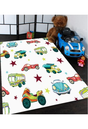 Bebişim Arabalar Çocuk Odası Halısı