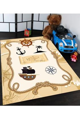 Bebişim Korsan Desenli Çocuk Odası Halısı