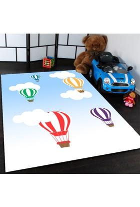 Bebişim Uçan Balonlar Çocuk Odası Halısı