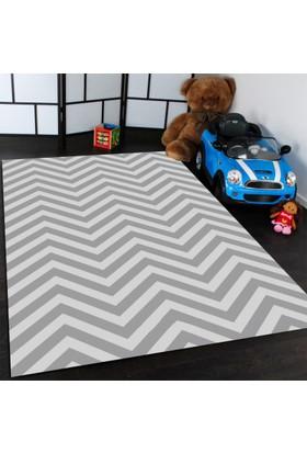 Bebişim Zigzag Desenli Çocuk Odası Halısı