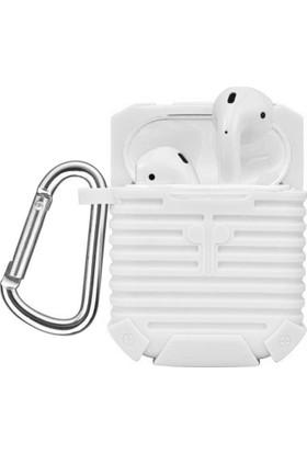 Microsonic Apple AirPods Bluetooth Kulaklık için Askılı Rugged Silikon Kılıf