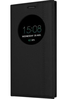 Microsonic Asus Zenfone 4 (5.5'') ZE554KL Kılıf Gizli Mıknatıslı View Delux