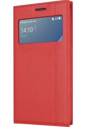 Microsonic Asus Zenfone 4 Max (5.5'') ZC554KL Kılıf Gizli Mıknatıslı View Delux