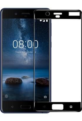Microsonic Nokia 8 Tam Kaplayan Temperli Cam Ekran koruyucu Film