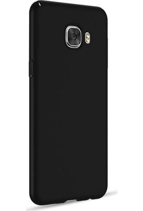 Microsonic Samsung Galaxy C5 Kılıf Slim Fit Rubber + Nano Cam