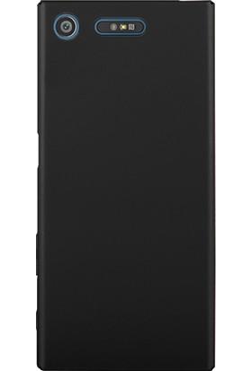 Microsonic Sony Xperia XZ1 Kılıf Slim Fit Rubber + Nano Cam