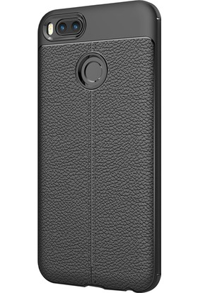 Microsonic Xiaomi Mi A1 Kılıf Suni Deri Silikon