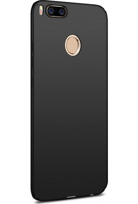 Microsonic Xiaomi Mi A1 Kılıf Slim Fit Rubber + Nano Cam