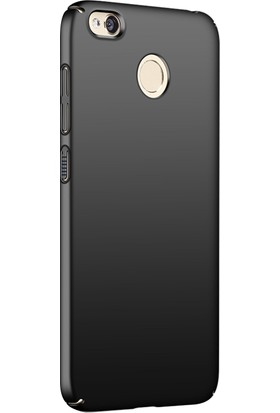 Microsonic Xiaomi Redmi 4X Kılıf Slim Fit Rubber Siyah + Nano Cam