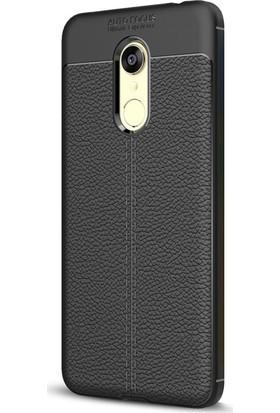 Microsonic Xiaomi Redmi 5 Kılıf Suni Deri Silikon