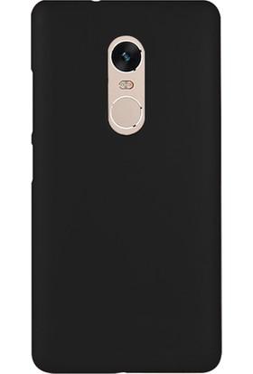 Microsonic Xiaomi Redmi Note 4 Kılıf Slim Fit Rubber Siyah + Nano Cam