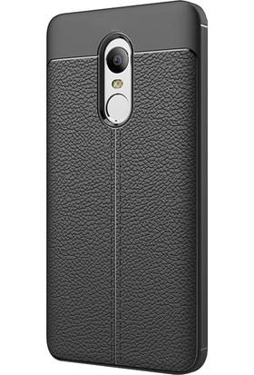 Microsonic Xiaomi Redmi Note 4 Kılıf Suni Deri Silikon