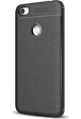 Microsonic Xiaomi Redmi Note 5A Prime Kılıf Suni Deri Silikon