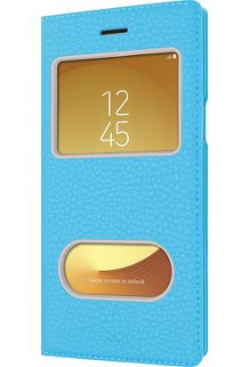 Microsonic Samsung Galaxy J7 Pro Kılıf Dual View Gizli Mıknatıslı