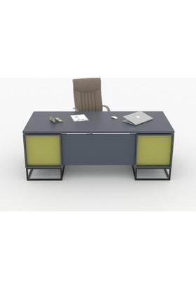 Tefrishop Lomas Ofis Yönetici Masa (Yeşil)