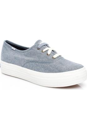 Keds Triple Kadın Mavi Sneaker Wf56552