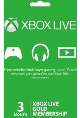 Xbox Live Gold 3 Month Dijital Kod / E-Pin