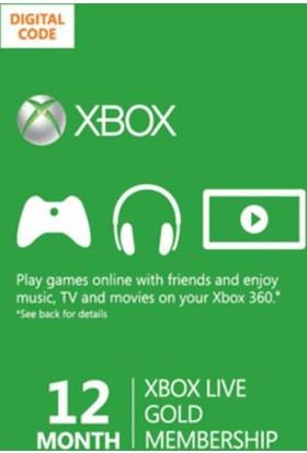 Xbox Live Gold 12 Month Dijital Kod / E-Pin